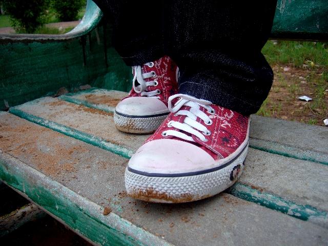 汚れた子ともの靴